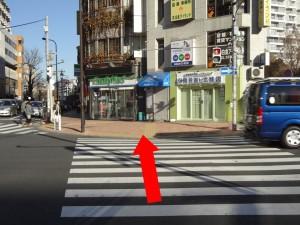 横断歩道とファミリーマート